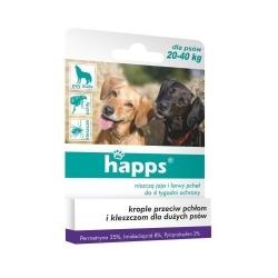HAPPS - spot-on - krople przeciw pchłom i kleszczom dla dużych psów