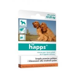 HAPPS - spot-on - krople przeciw pchłom i kleszczom dla średnich psów