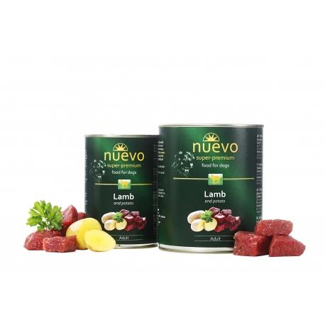 Nuevo 400 g jagnięcina dla psa dorosłego 66 % mięsa