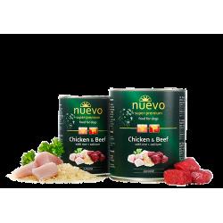 Nuevo 400 g junior kurczak z wołowiną dla szczeniąt 66 % mięsa