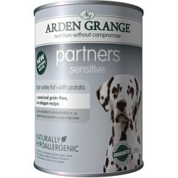 Arden Grange Partners Sensitive White Fish 395 g karma mokra 64% świeżej ryby