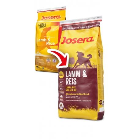 Josera Lamb & Rice 15 kg + Nuevo 400 g Gratis